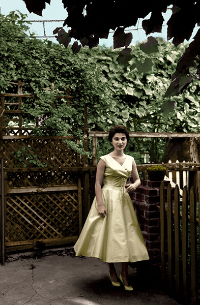 Kitty Genovese, in 1959, photographed in her grandparents' backyard in Brooklyn. Photo by Andrew Giordano. Courtesy of The Witnesses Film, LLC.