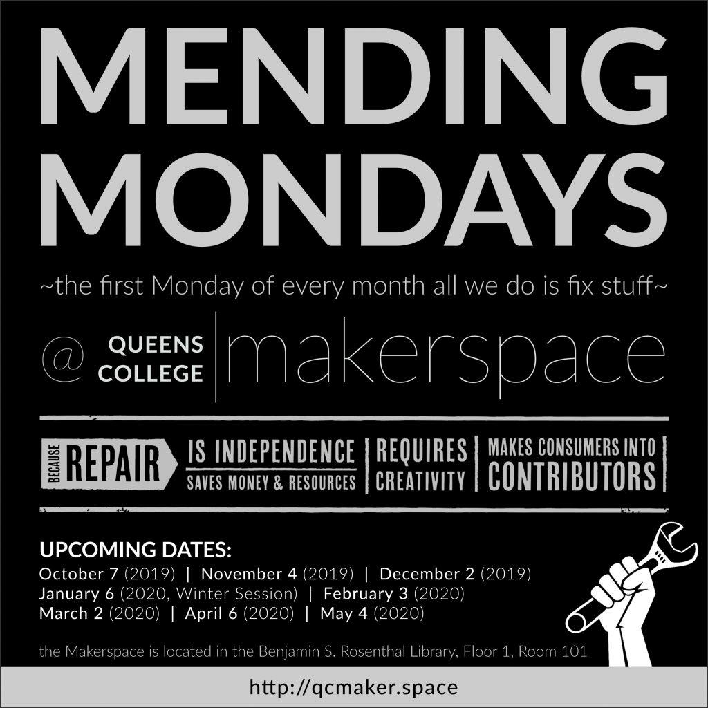 Mending Mondays AY 19-20 dates