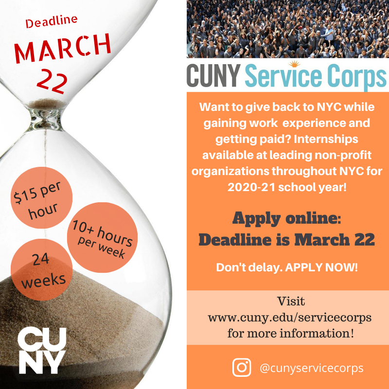 Apply Now for CUNY Service Corps